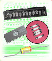 Electronics: Eproms, Switches, Fuses, Batteries, Micros, Displays, etc.