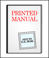 Printed manuals - sent by US mail