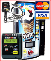 Ice cream vending machine set-ups