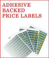 Adhesive Backed Price Labels