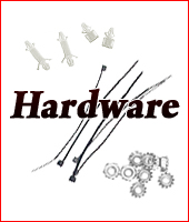 Hardware - cable ties, board stand-offs, nuts