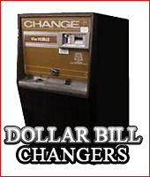 Dollar Bill Changers for Sale- front and rear load - Rowe, American, and tube changers