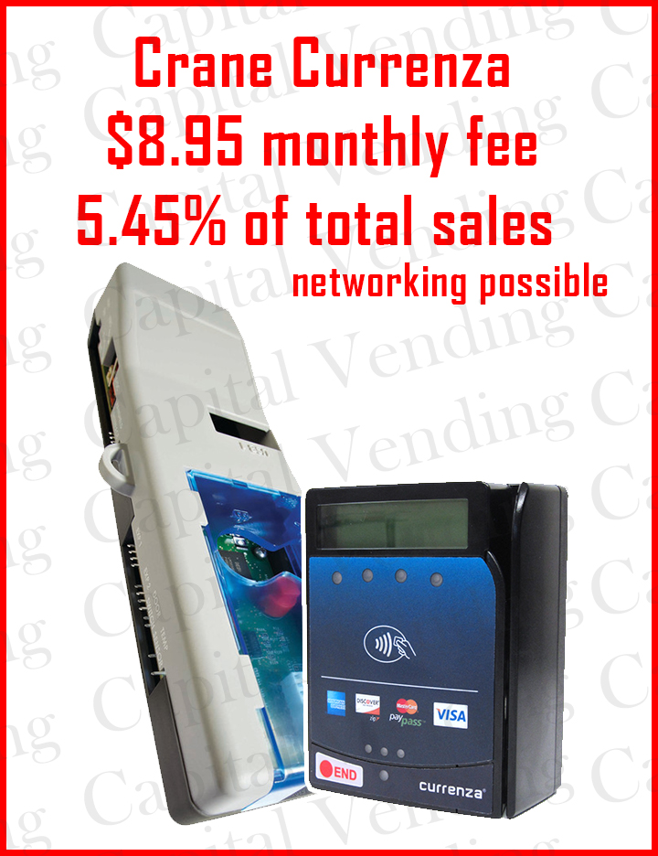 Setup to install a credit card reader in a Vendo 30 or 40