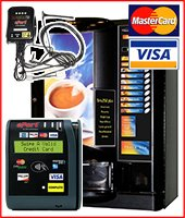 Coffee vending machine set-ups