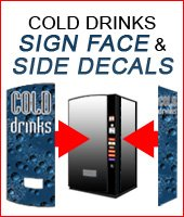 Cold drinks sign face and side decals