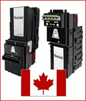 Canadian bill acceptors