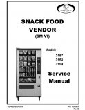 3157, 3158, 3159 Snack Food Vendor SM VI Manual (48 Pages)