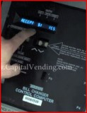 How to program payouts on a Rowe BC3500 dollar bill changer control board