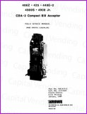 Rowe CBA-2 Compact Bill Acceptor Field Service Manual and Parts Catalog