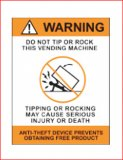 """Warning Do Not Tip Or Rock"" Decal"