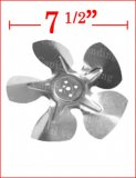 Fan blade for condensor and evaporator - standard 7 1/2""