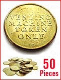 Vending Machine Tokens - 50 Pieces