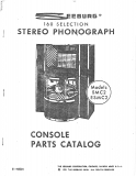 Seeburg Console Parts Catalog 1979 160 Selection Stereo Phonograph (20 Pages)