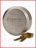 American Puck Lock with Two Keys - Keyed Alike