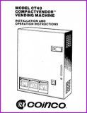 Coinco CT48 Compact Vendor Vending Machine Installation and Operation Instructions