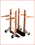 "Roll & Kari  dual hand trucks  28"" lip"