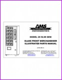 AMS 28 Slim Gem Glass Front Merchandiser Illustrated Parts Manual