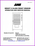 AMS 35, 39, VCB, and VCF Sensit II Glass Front Vendor Manual