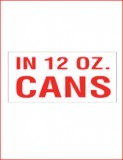 """In 12oz Cans"" Decal"