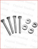 Set of 4 carriage bolts and nuts for joystick
