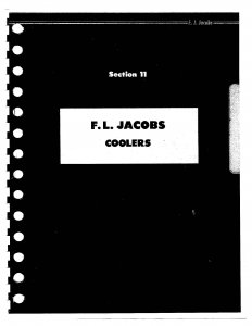 F.L. Jacobs Coolers Models J-144, J-26, J-35  (88 Pages)