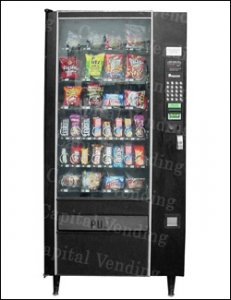 Refurbished Automatic Products Glass Front Snack Machine