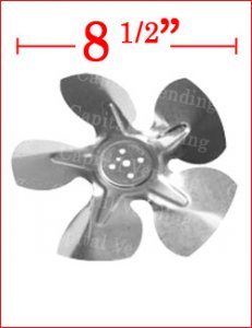 Fan blade for condensor and evaporator - standard 8 1/2""