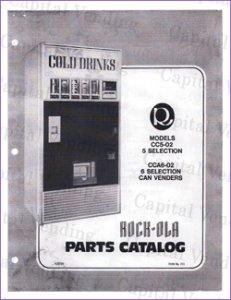 Rock-ola CC5 CCA6 parts catalog
