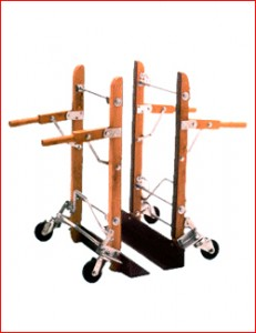 "Roll & Kari  dual hand trucks  23"" lip"